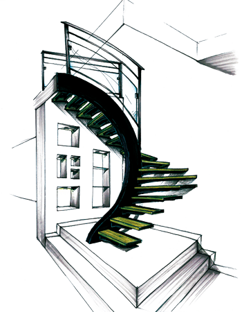 Escalier metal bois design - Escalier design bois metal ...