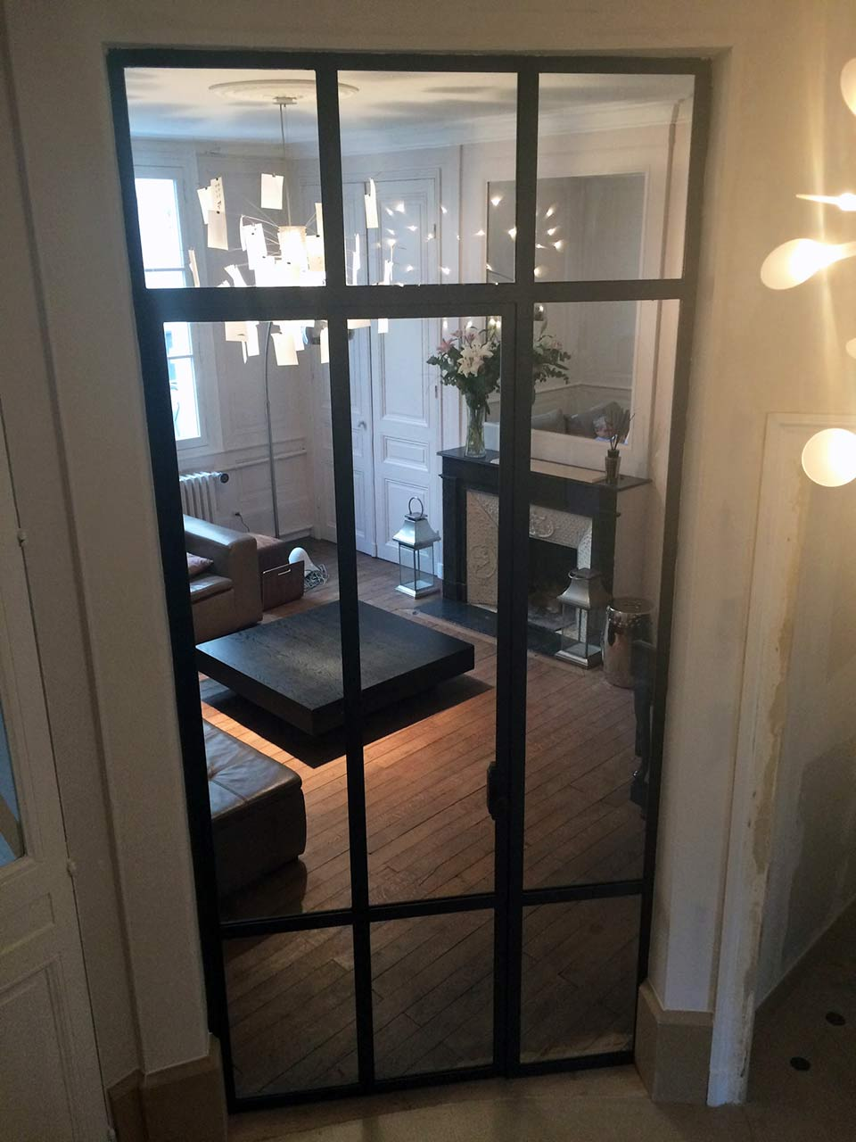 Verri res d atelier d artiste munch et foucher portes fen tres escalier - Cloison verriere atelier ...